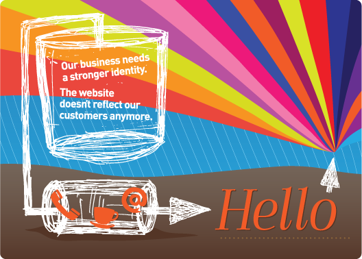 Our busines needs a stronger identity.  The website doesn't reflect our customers anymore
