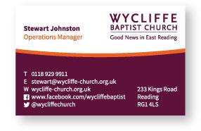 Wycliffe Baptist Church Business Card