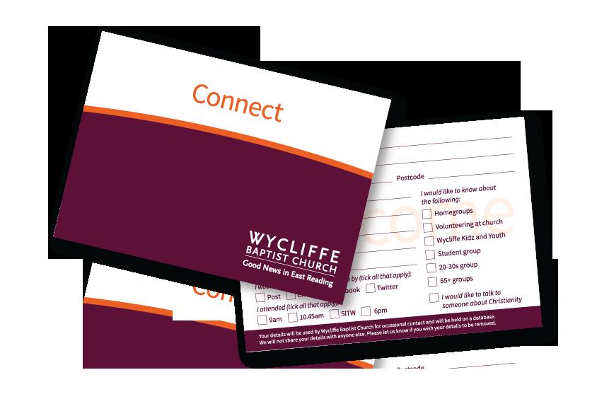 Wycliffe Baptist Church Contact Postcard